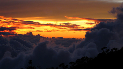 sunset from Laban Rata lodge, Mt.Kinabalu
