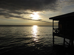 sunset over the Celebes Sea from our lodge