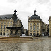 Place de la Bourse with its large fountain with rose-tinted water